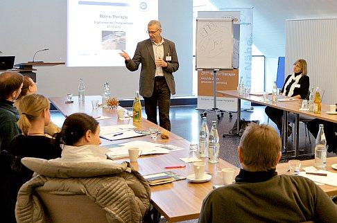 Конференц и лекционный зал ортопедической Геленк-Клиники на 60 человек. © Gelenk-Klinik