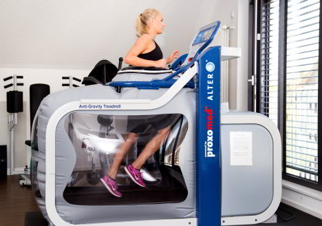 Anti Gravity Treadmill: The effect of gravity is partially or completely eliminated